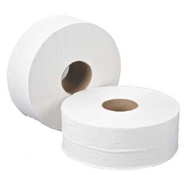 Jumbo Toilet Roll White 2 Ply